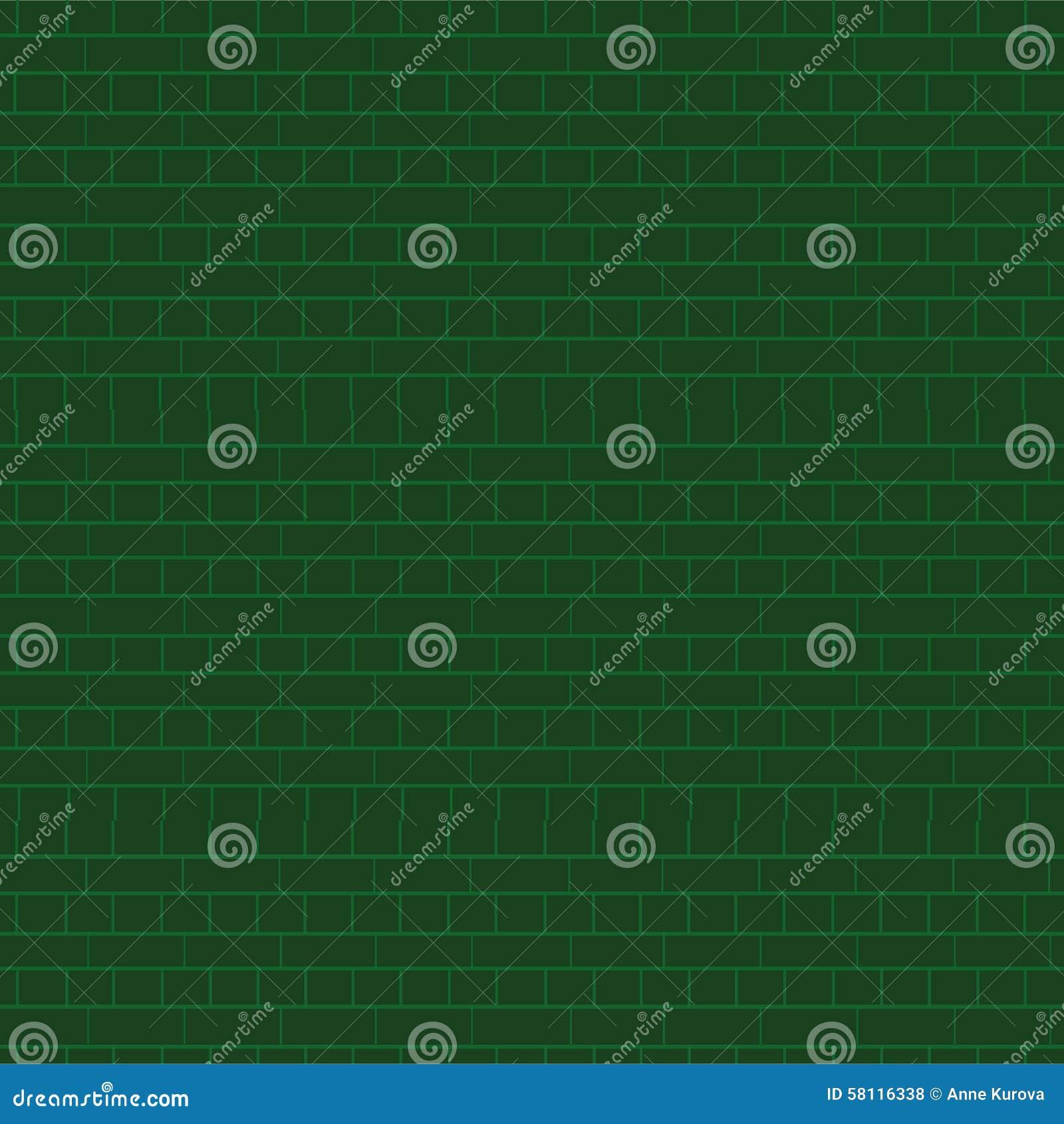 Parede de tijolo verde