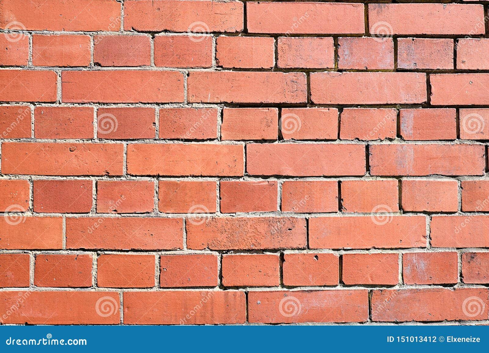 Parede de tijolo vermelha do clinquer