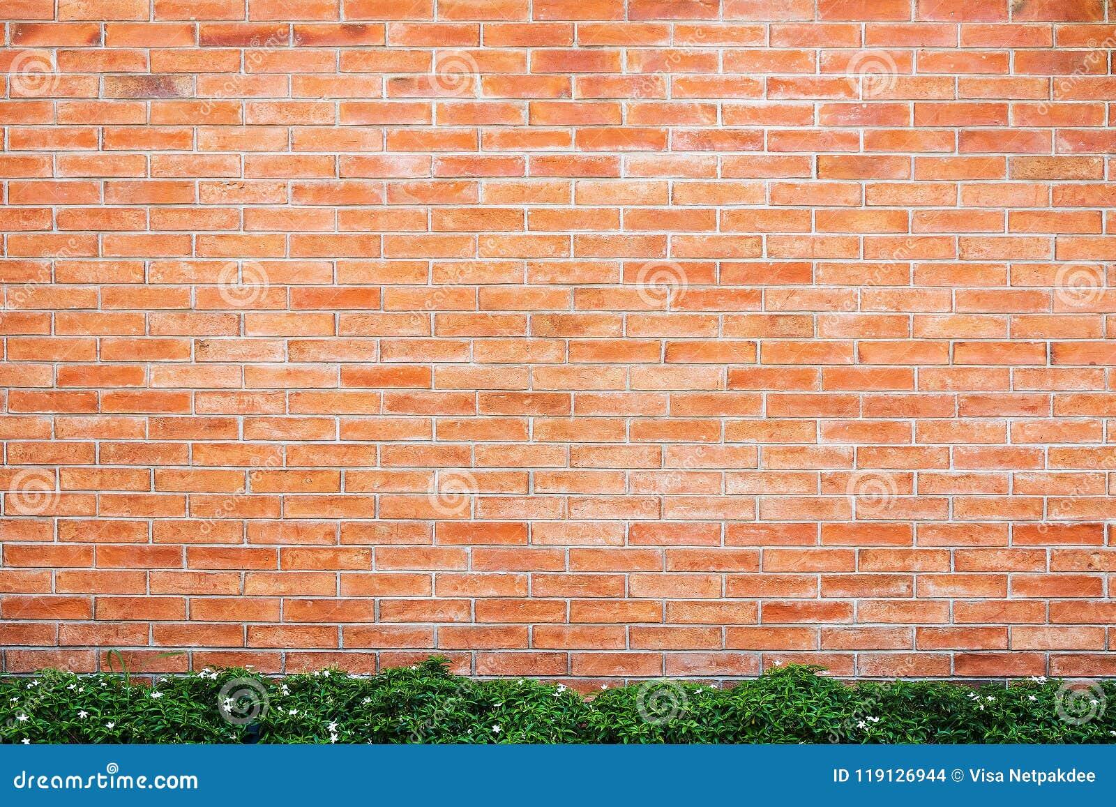 Parede de tijolo vermelho para o fundo