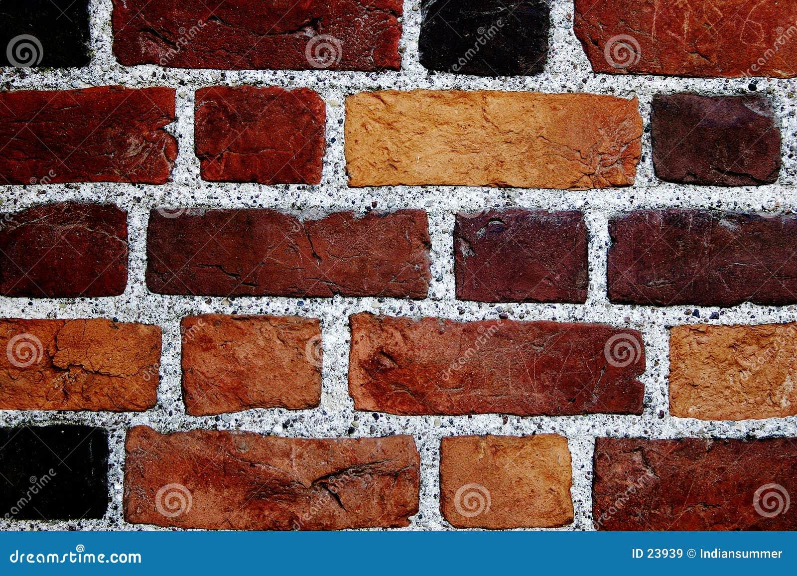 Parede de tijolos da cor