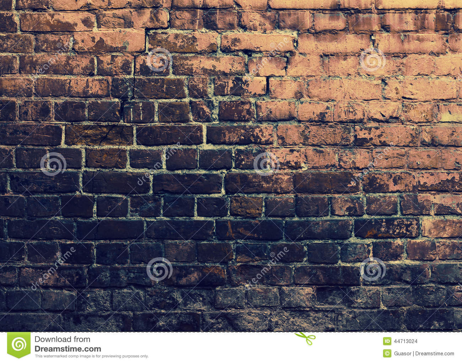 Parede de tijolos de Grunge