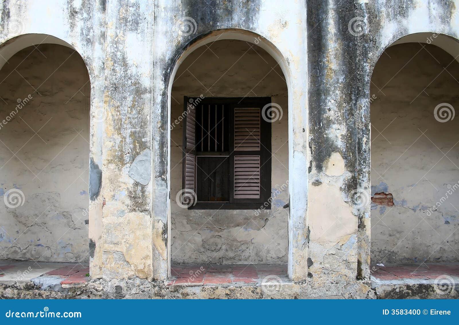 Parede de um edifício velho