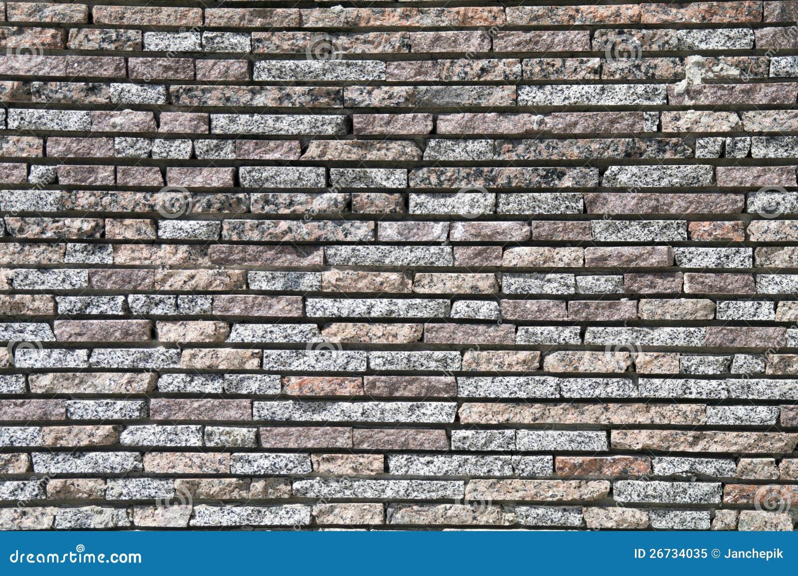 Parede de um tijolo 11 do granito