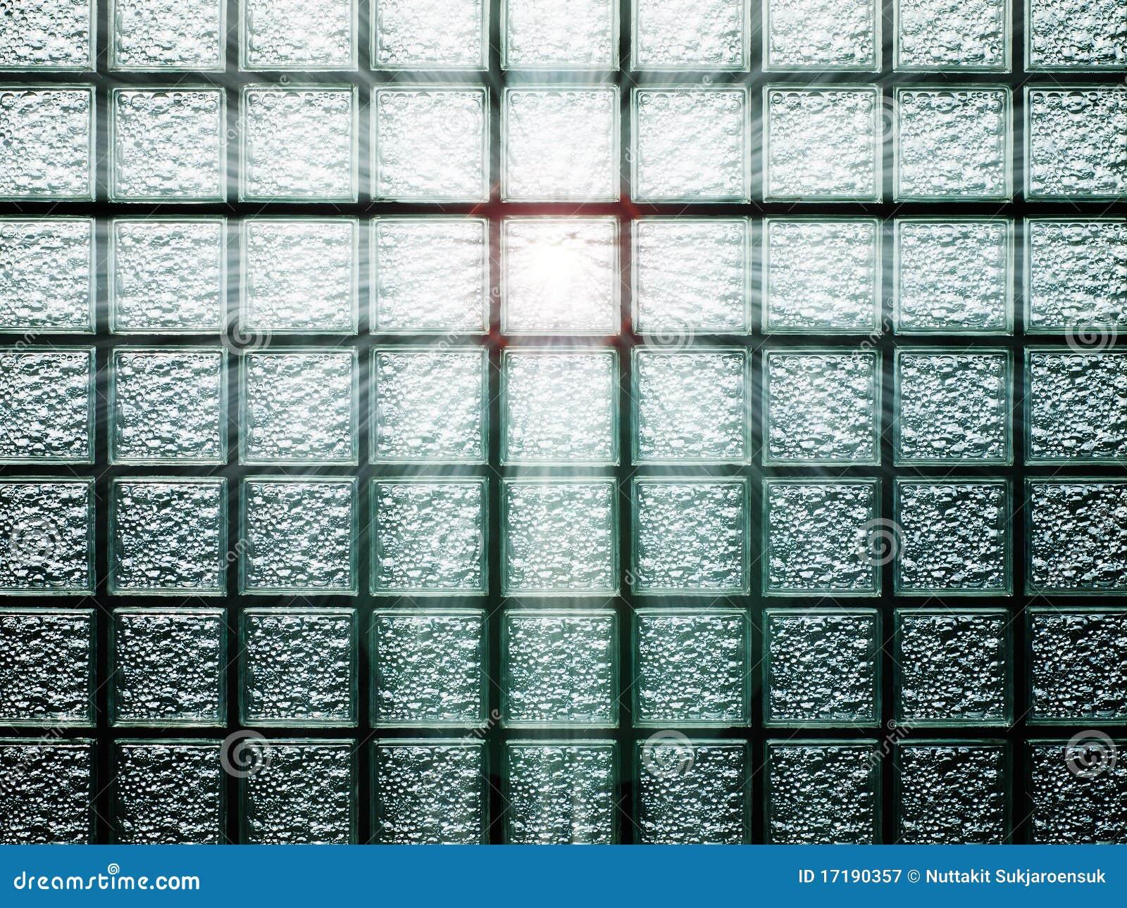 Parede do bloco de vidro