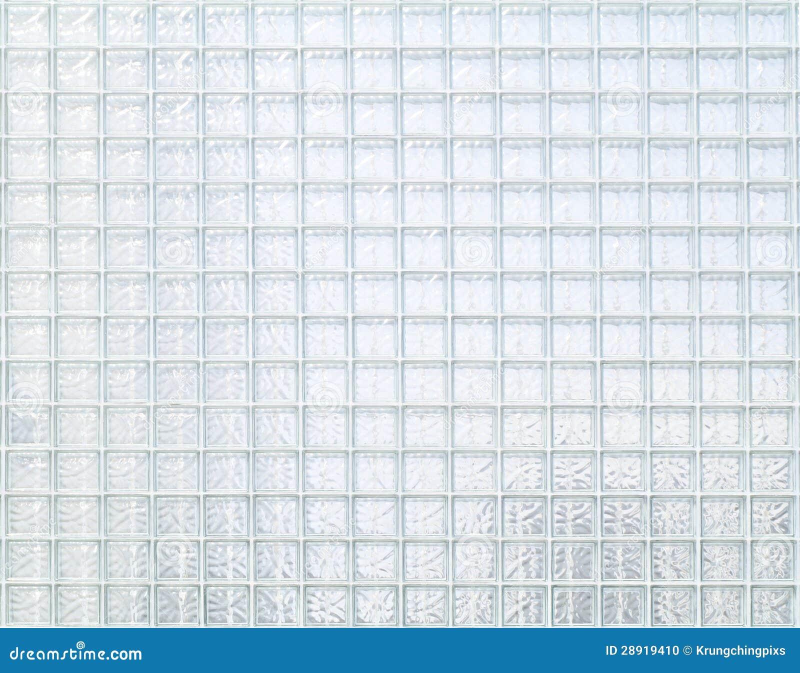 Parede Do Bloco De Vidro Foto de Stock - Imagem: 28919410