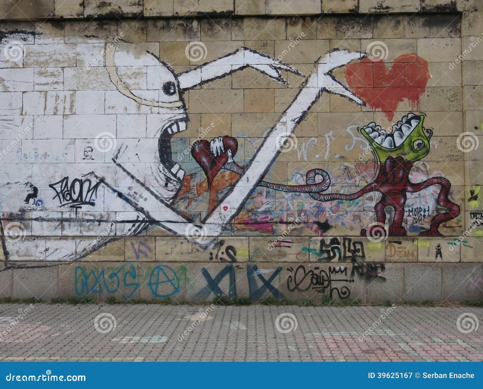 Parede dos grafittis