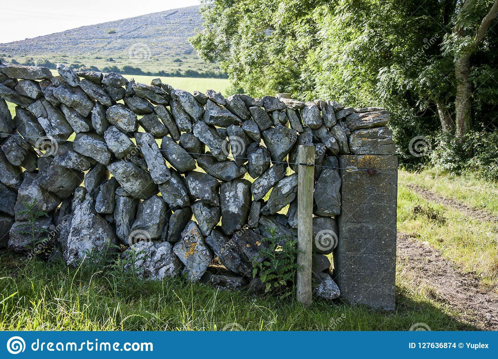 A parede Drystone