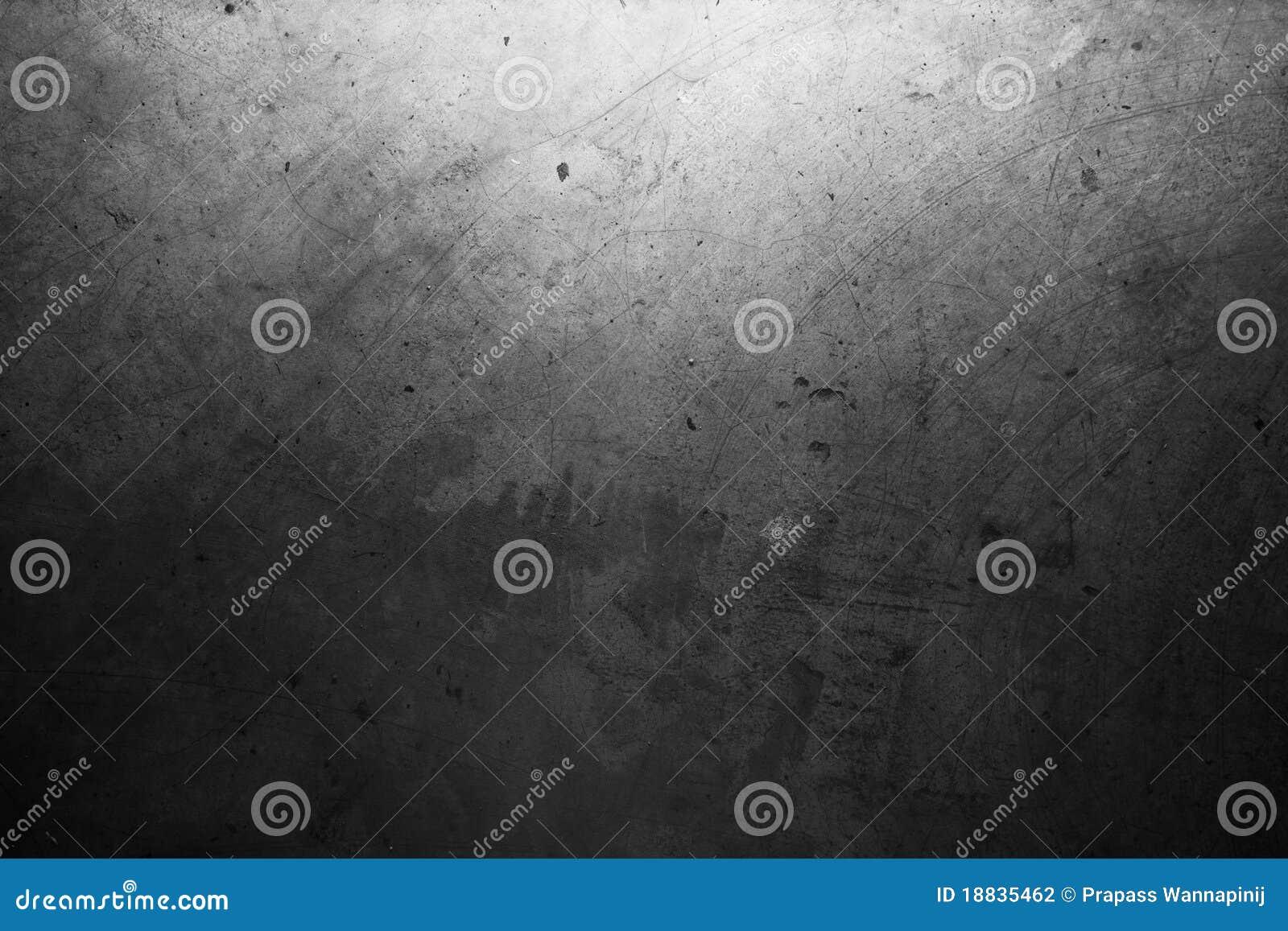 Parede escura velha suja do cimento de Grunge