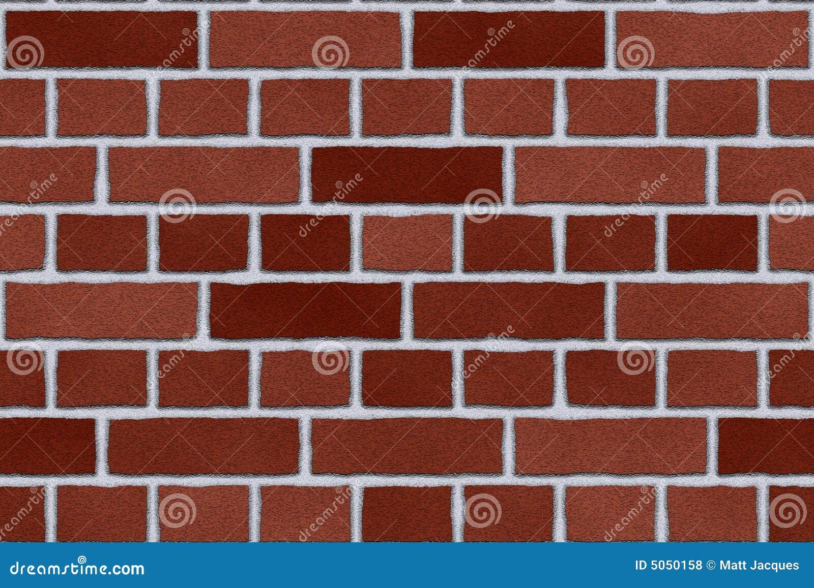 Parede exterior de tijolo vermelho