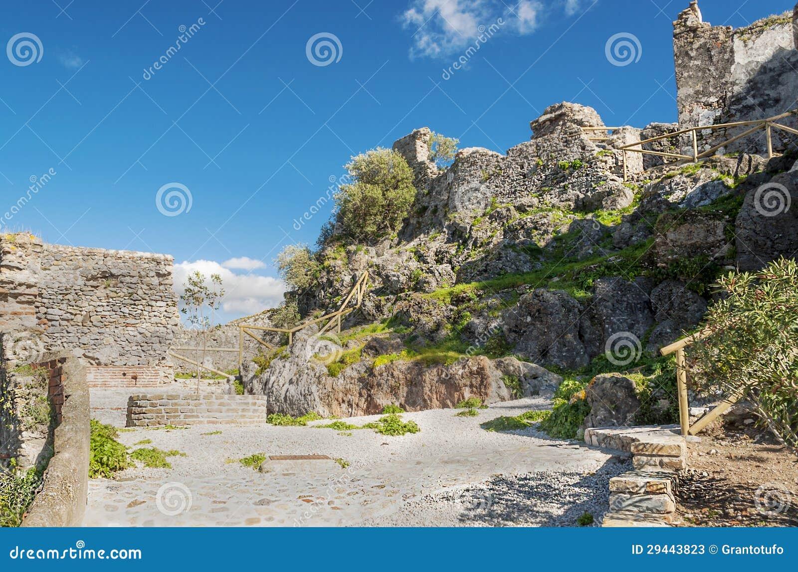 Parede medieval do castelo