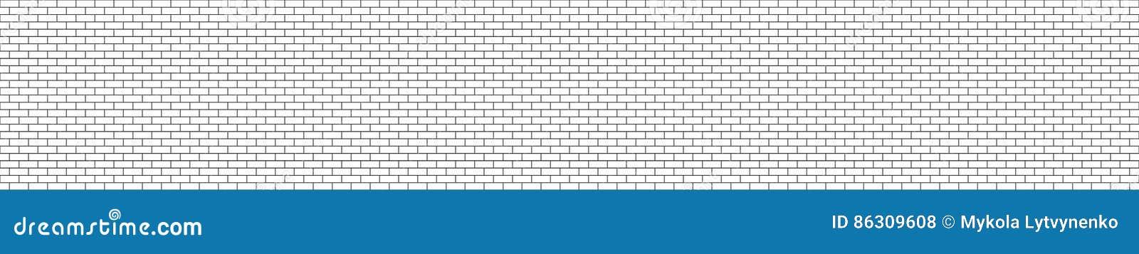Parede sem emenda do tijolo estrutural preto e branco do panorama