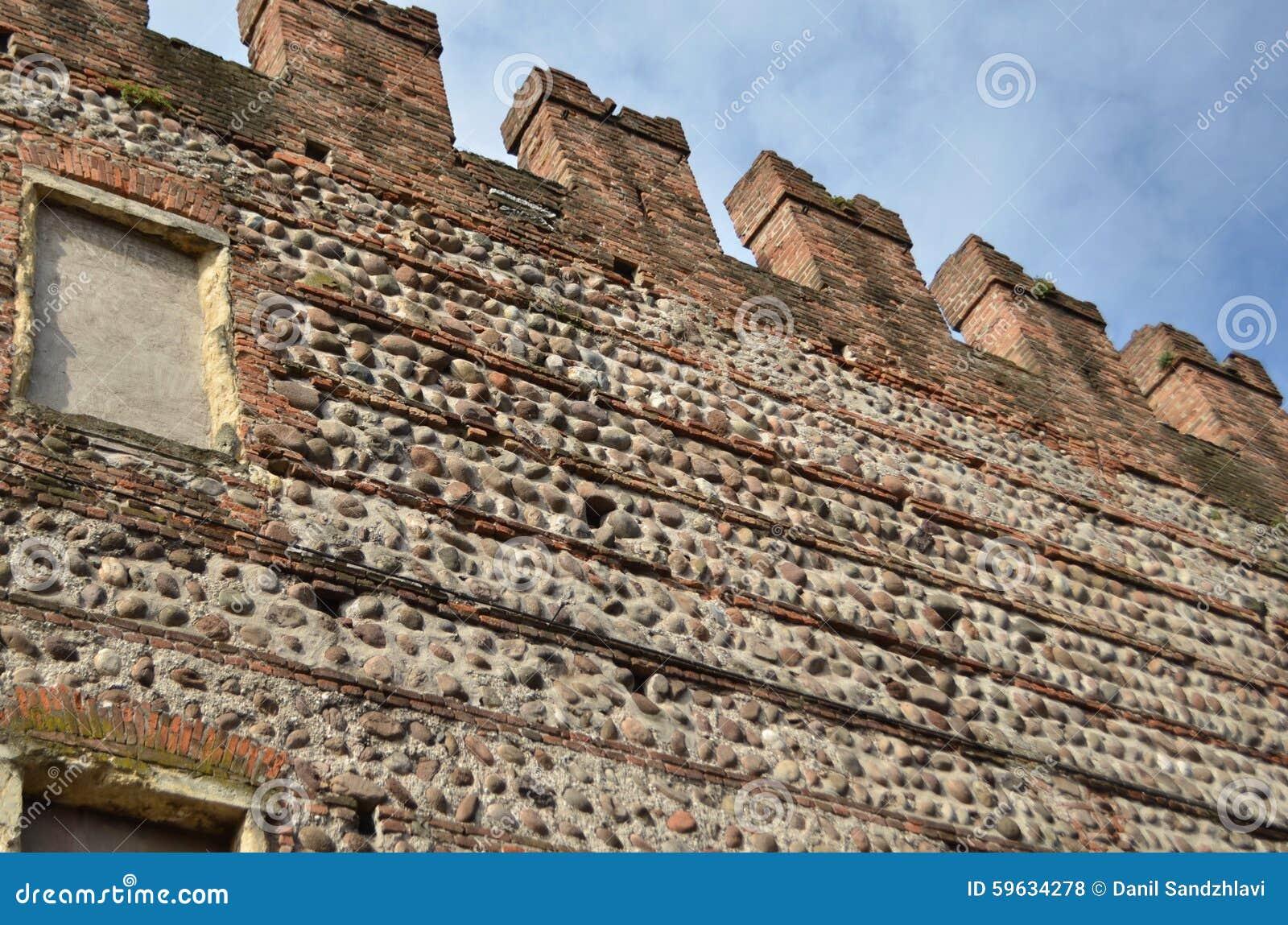 Paredes Bonitas De Verona Castelvecchio Foto De Stock Imagem De