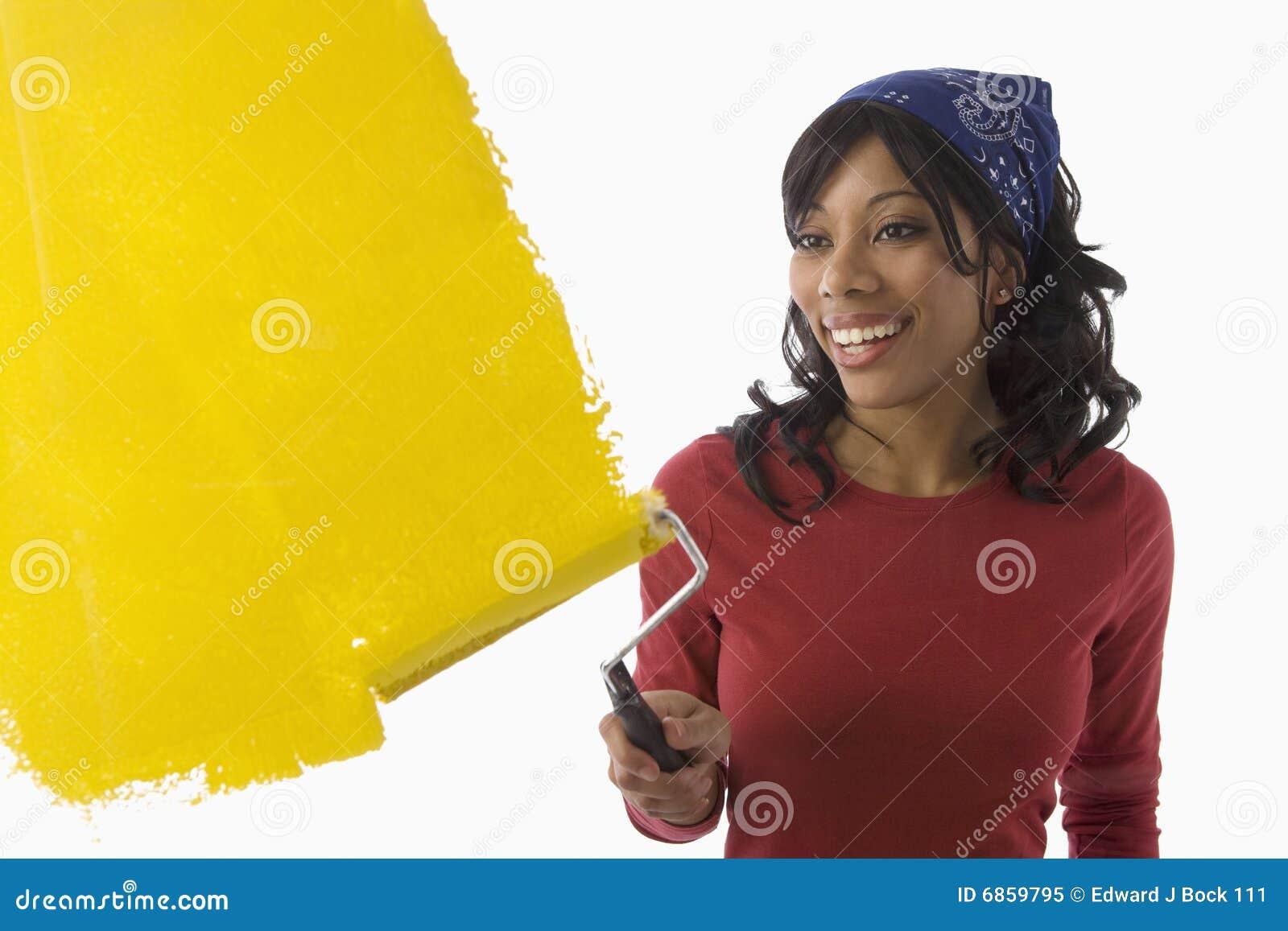 Paredes da pintura da mulher preta