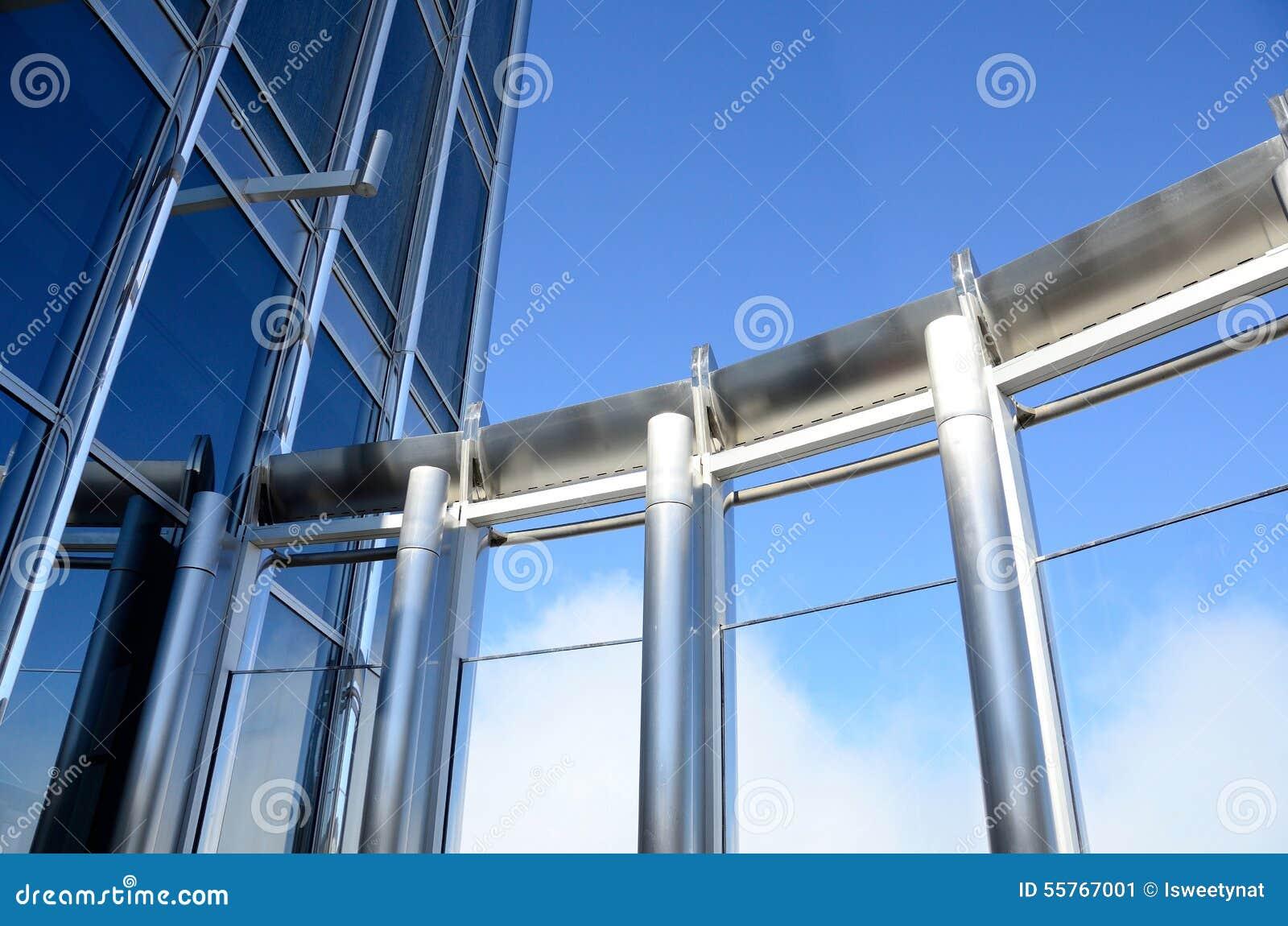 Paredes de cristal y marcos de acero foto de archivo - Paredes de cristal precios ...