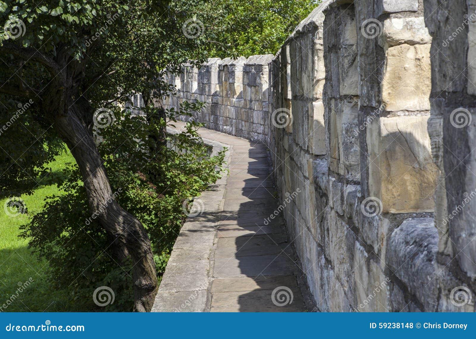 Download Paredes De La Ciudad De York Foto de archivo - Imagen de exterior, defending: 59238148
