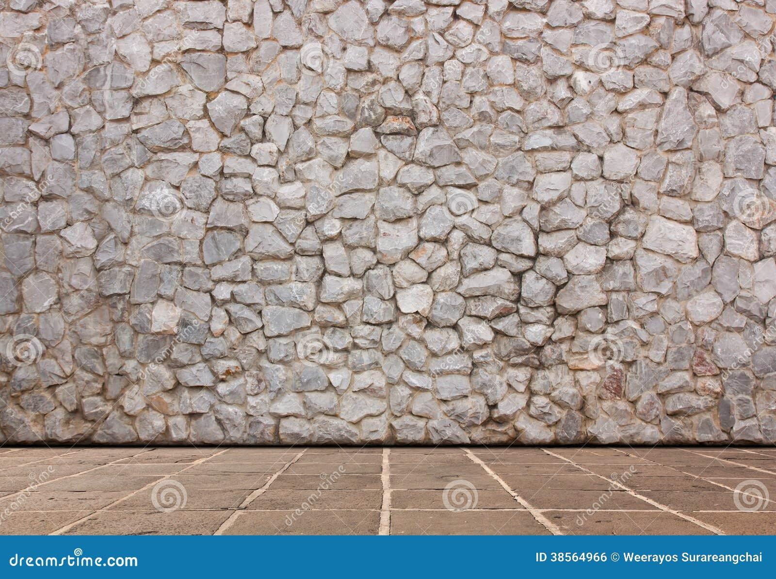 Paredes de piedra y piso del cemento imagen de archivo - Paredes de cemento ...
