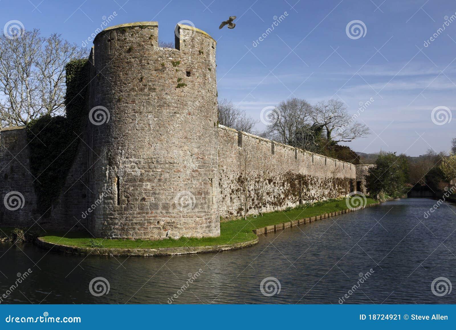 Paredes defensivas - palácio dos Bishops - poços - Inglaterra