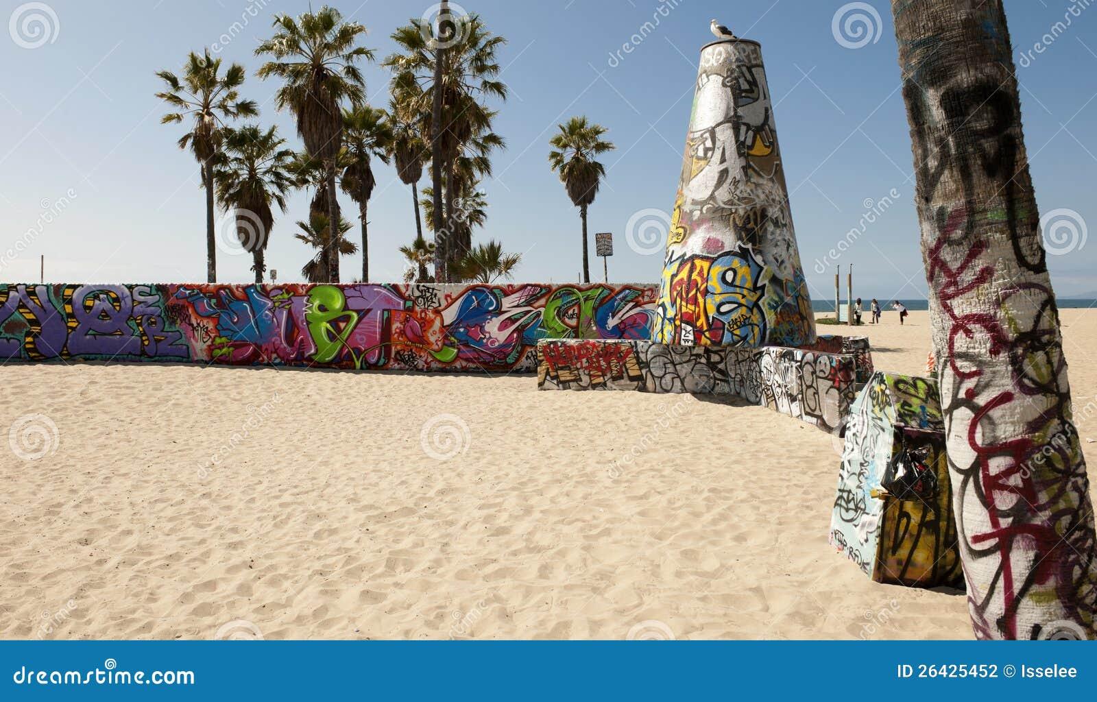 Paredes Del Arte En La Playa De Venecia, Los Ángeles Foto de archivo ...