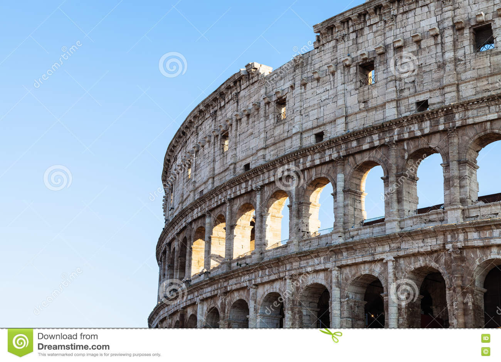 Paredes Del Coliseo Romano Antiguo Del Amphitheatre Imagen De
