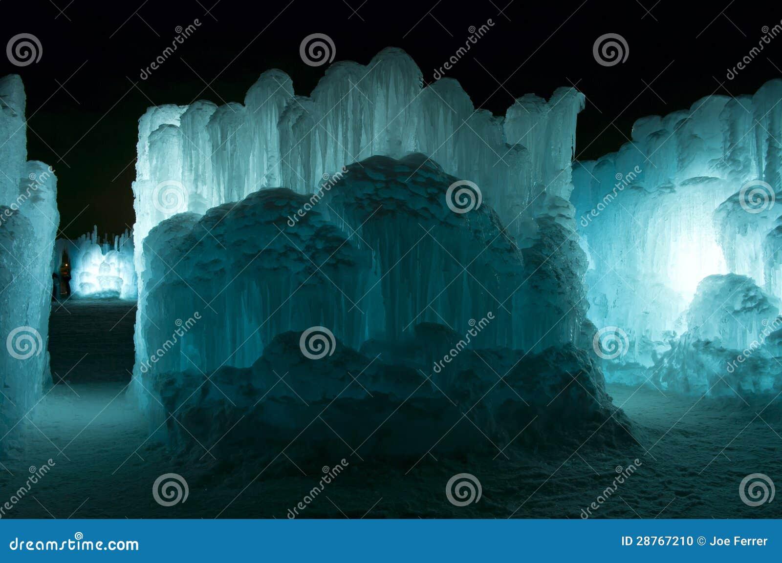 Paredes e passagens do gelo