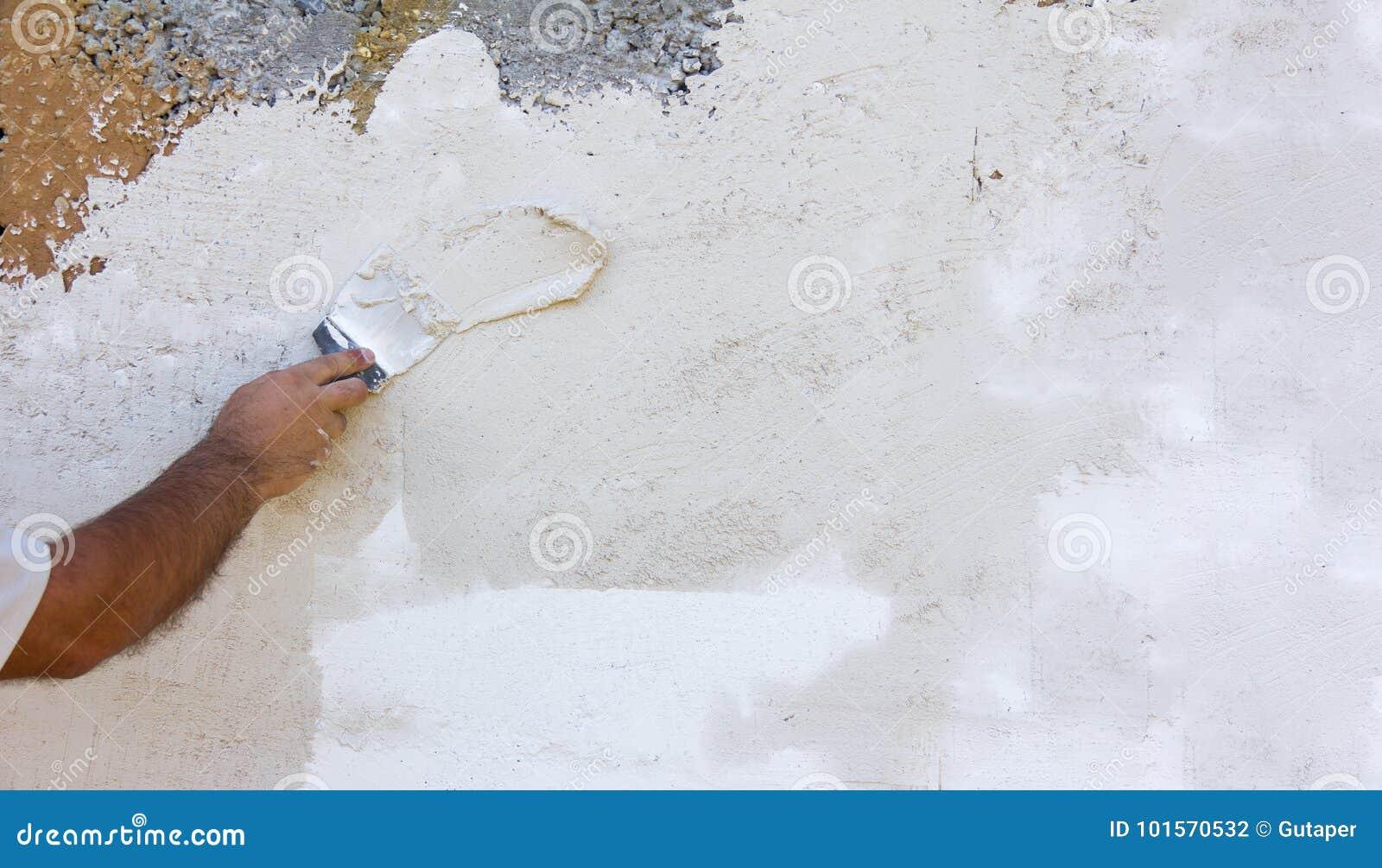 Paredes Enyesadas ásperas Blancas De La Textura Del Fondo Y
