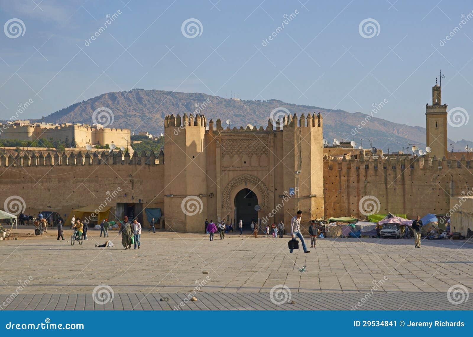 Paredes históricas da cidade de Fes