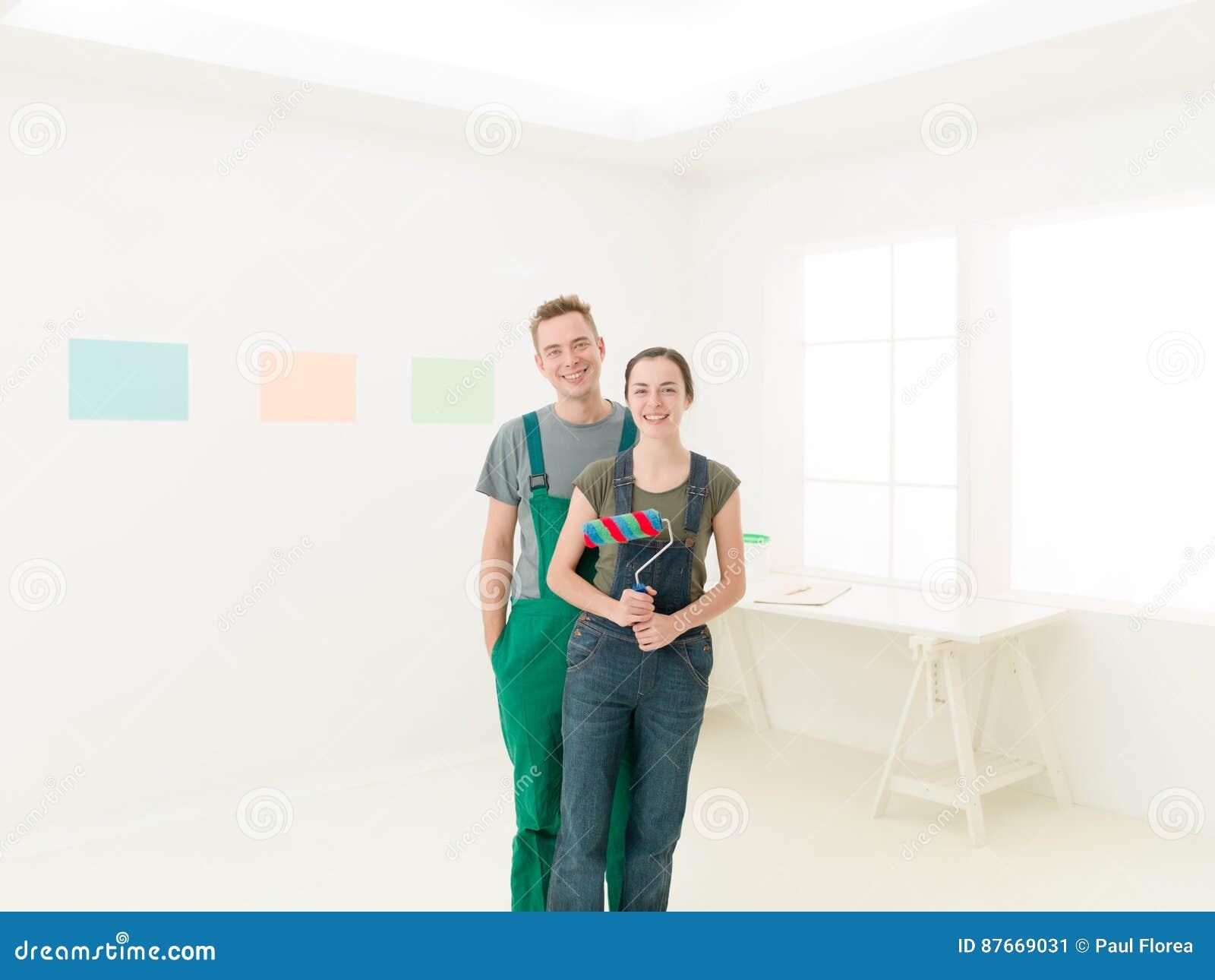 Paren klaar te schilderen