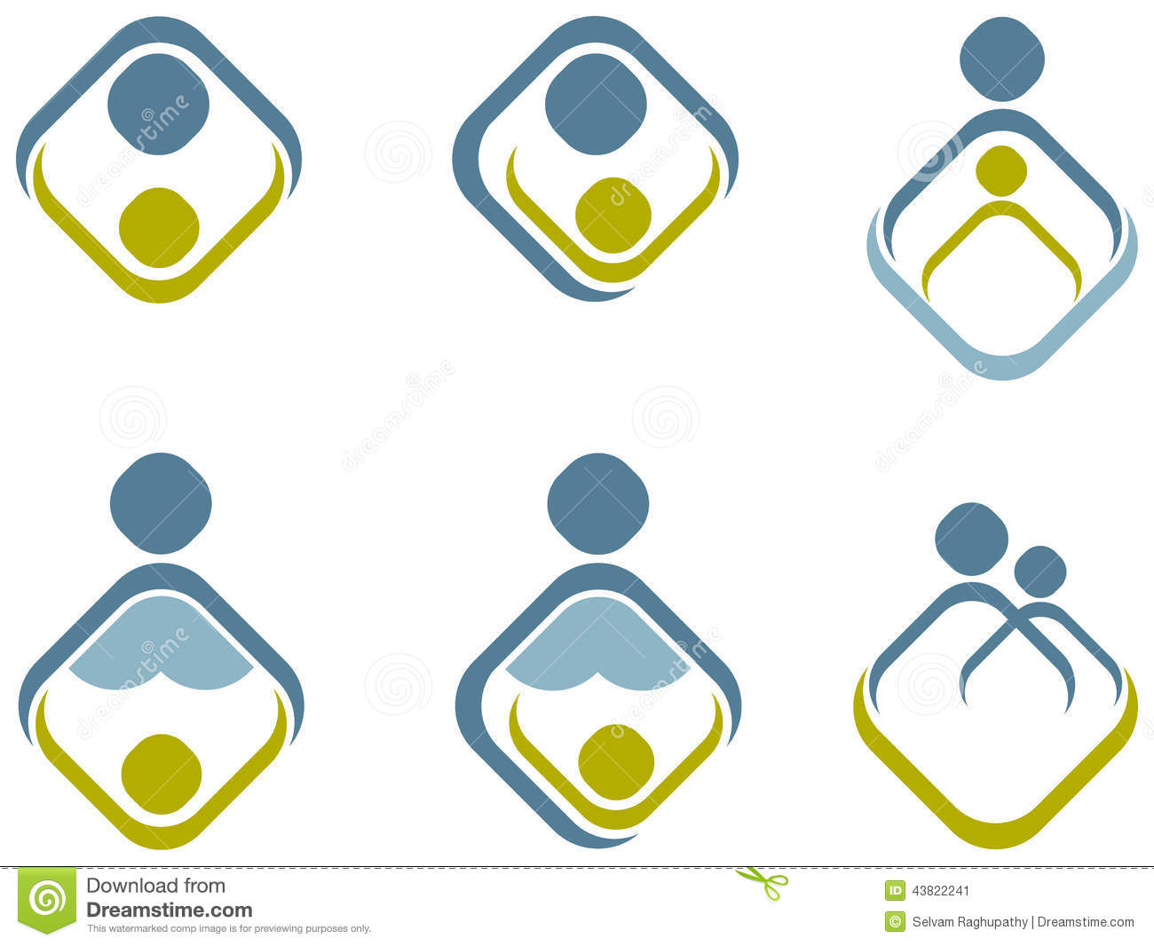 Parent And Child Stock Vector Image 43822241