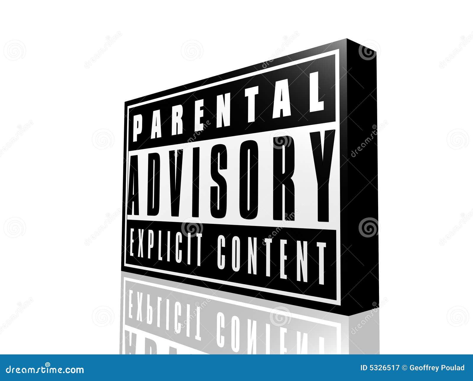 parental advisory stock illustration illustration of upkeep 5326517