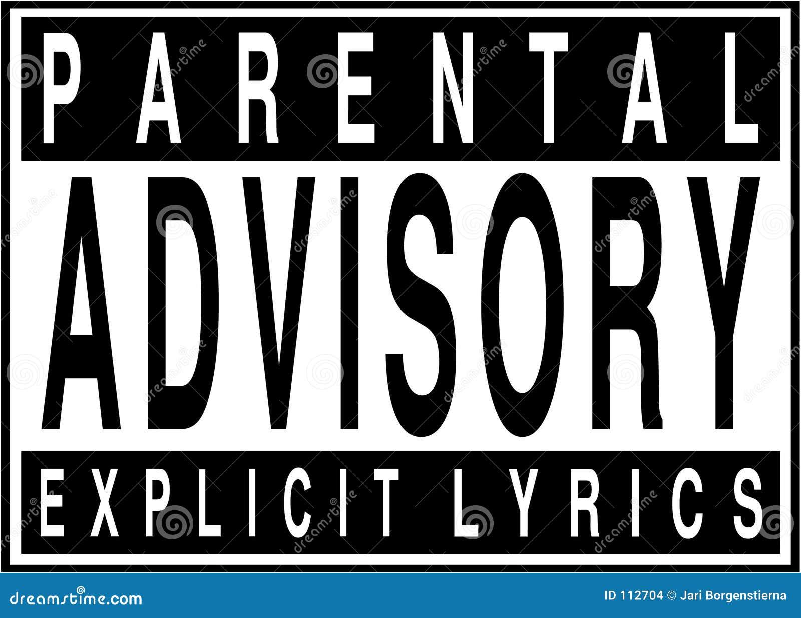 Parental Advisory Explicit Lyrics Stock Images - Image: 112704