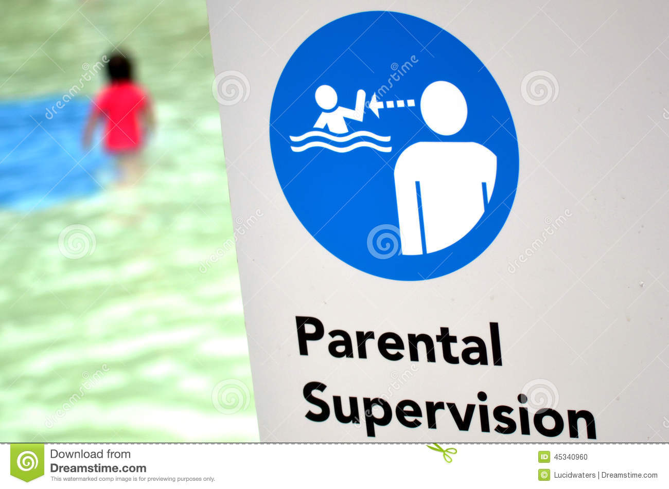 Parental Supervision In Swimming Pool Stock Photo Image