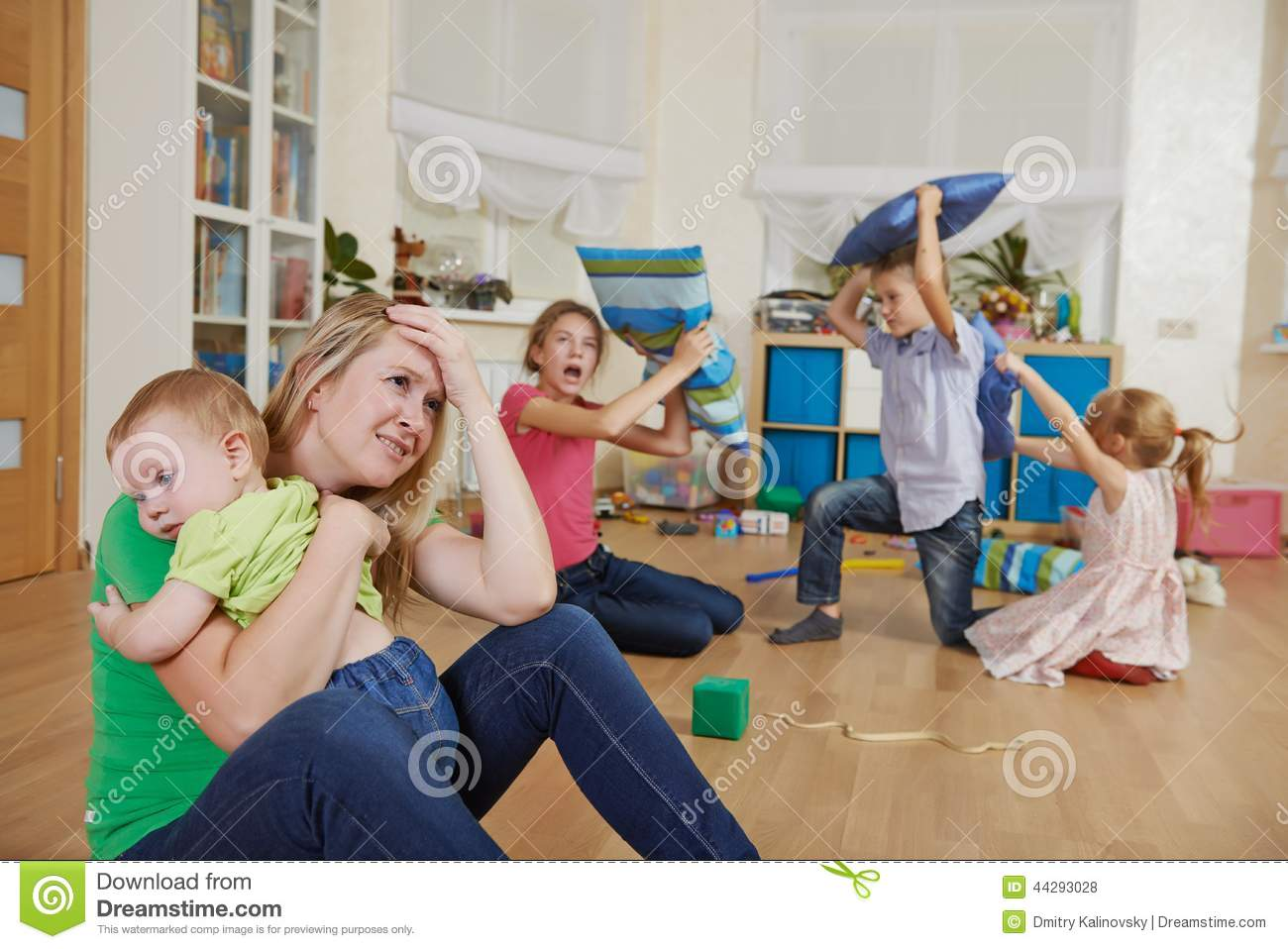 parenting and family frustration stock photo image of