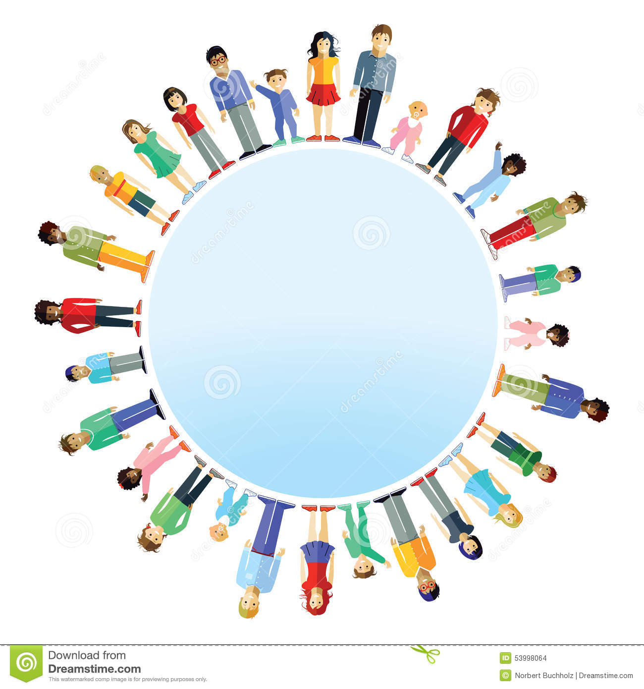 Parents And Children From Around The World Stock Photo Image - Different continents of the world