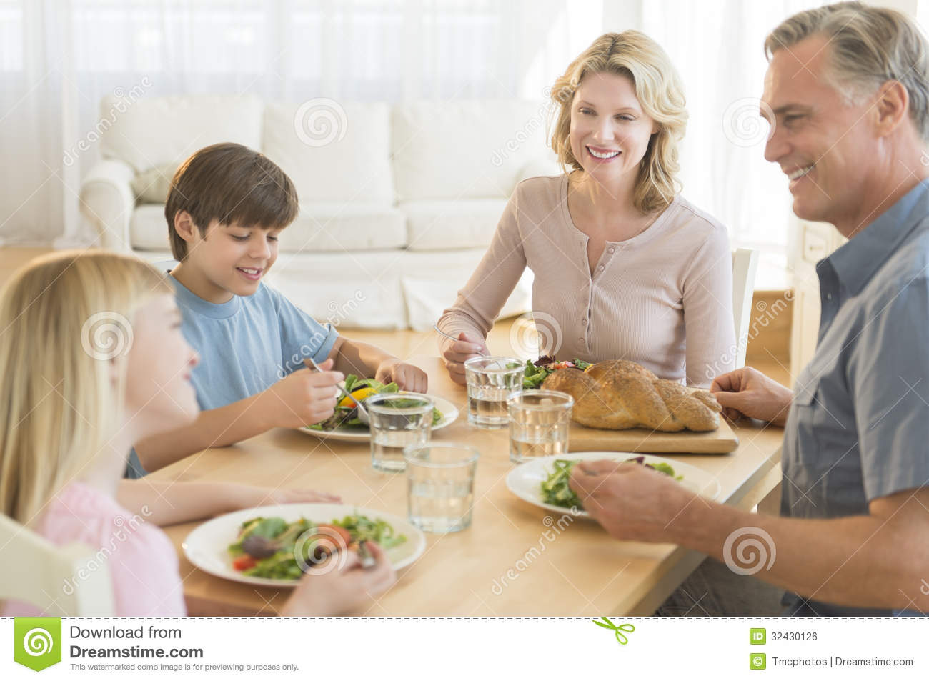 Dinner table with food - Dining Food Table