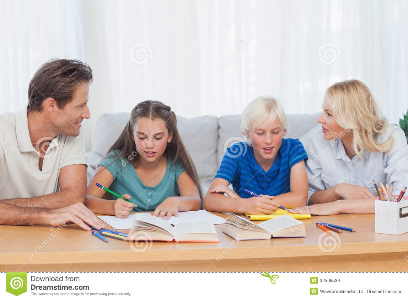 parents doing kids homework