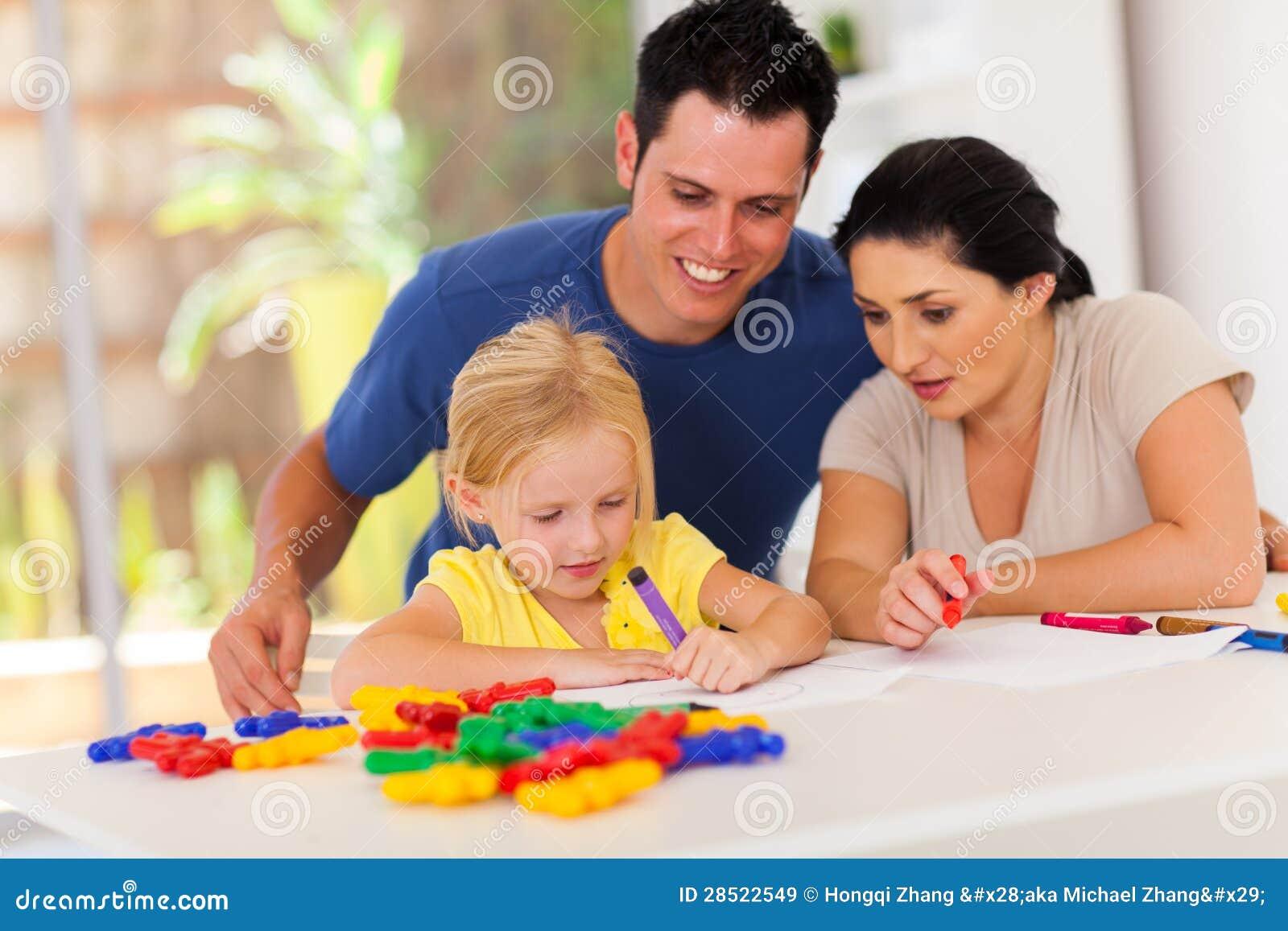 Parents il disegno della figlia