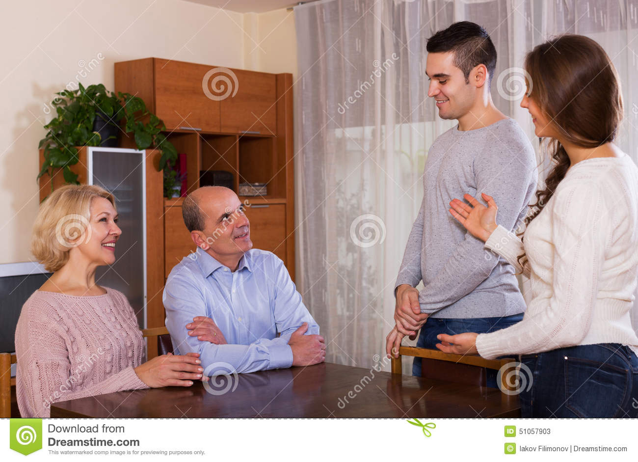 Meeting sons girlfriends parents