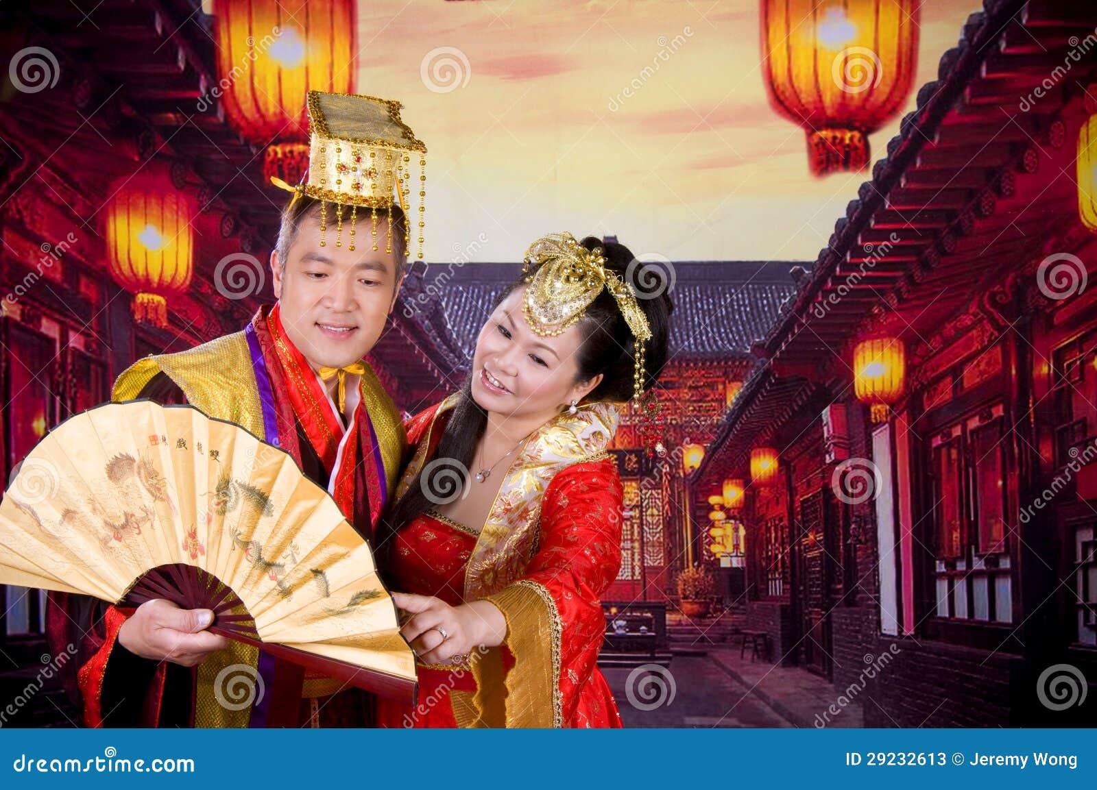 Download Pares chineses imagem de stock. Imagem de ventilador - 29232613