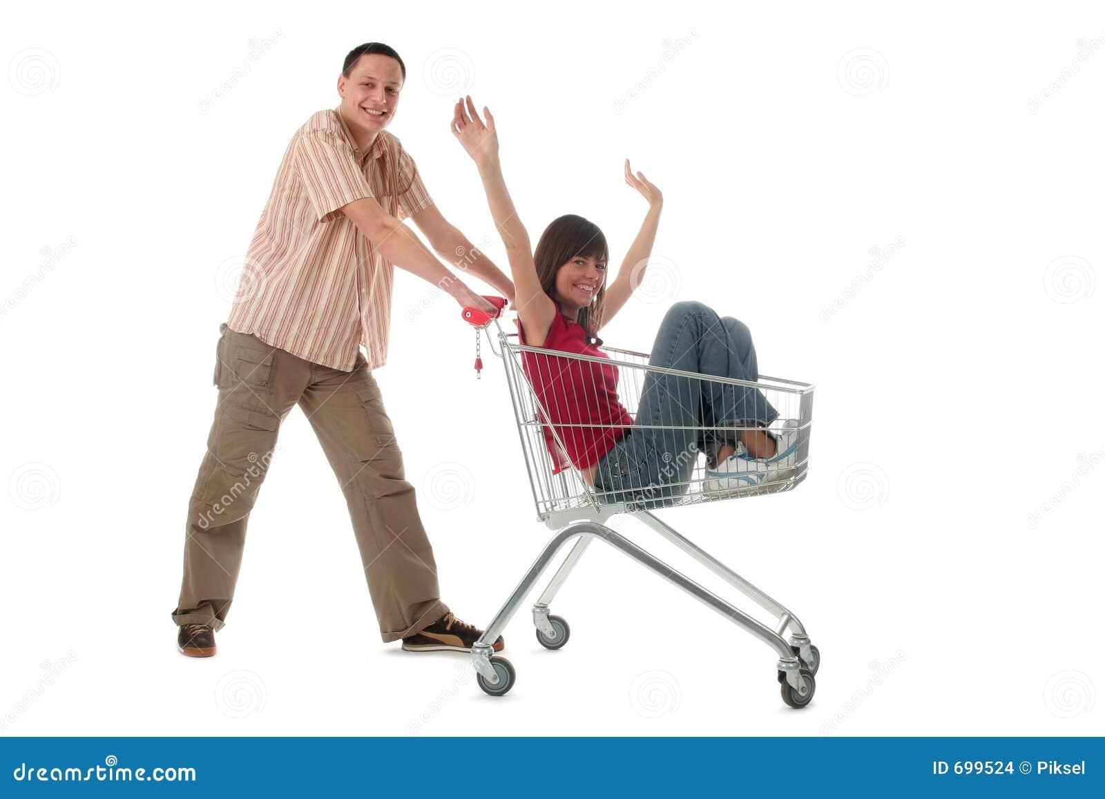 Pares con el carro de compras