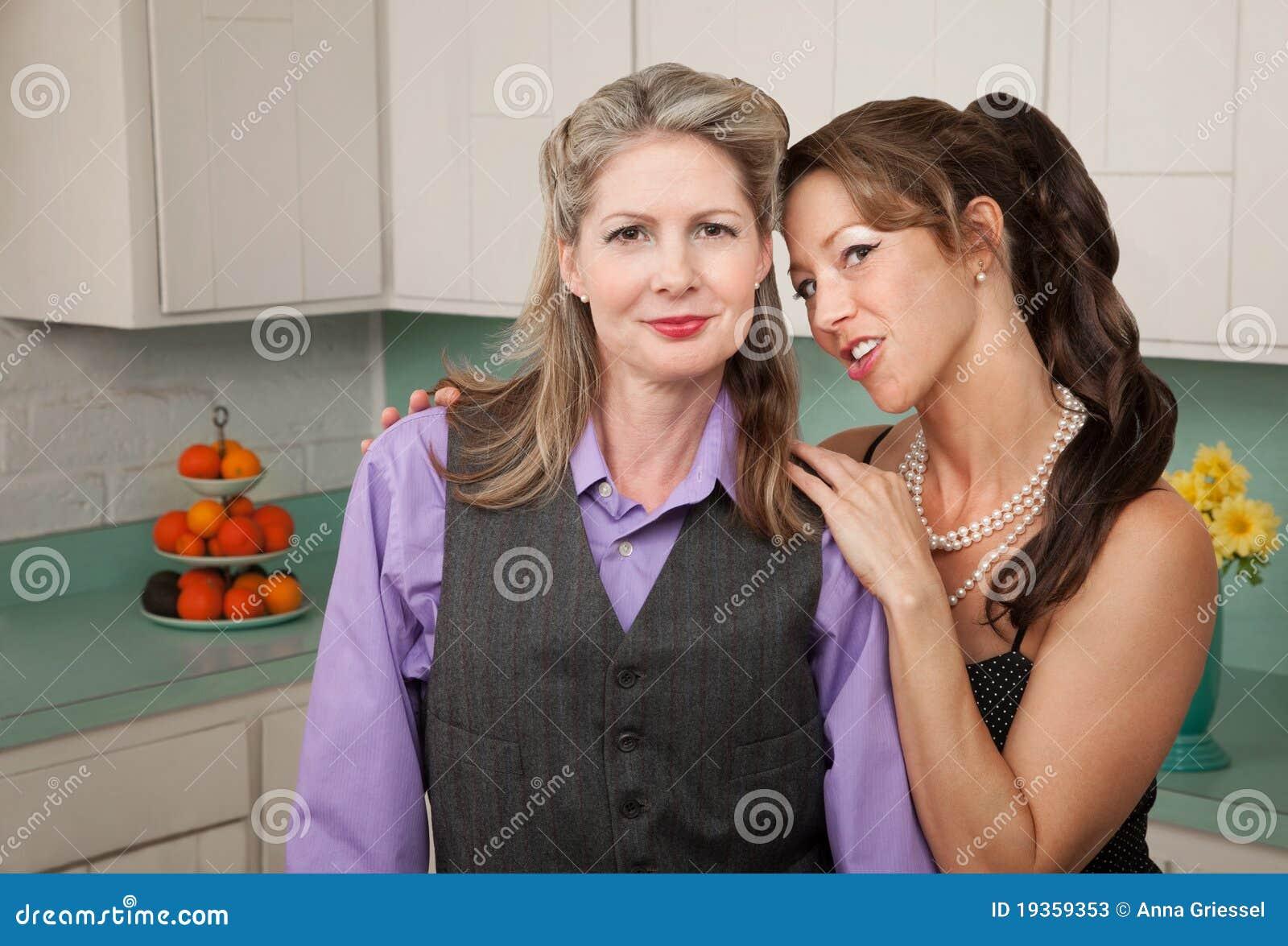Pares confiáveis da lésbica