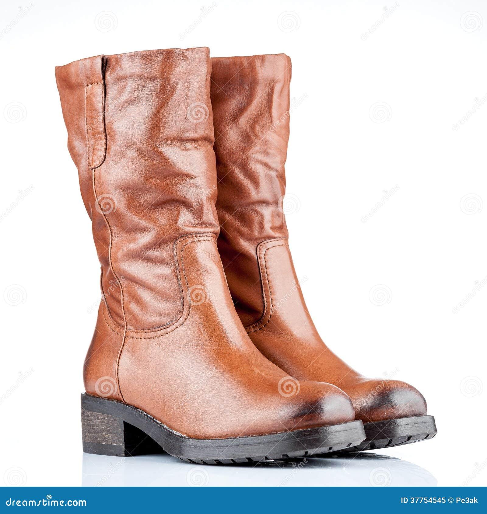 forma elegante nueva apariencia mas bajo precio Pares de botas femeninas imagen de archivo. Imagen de blanco ...