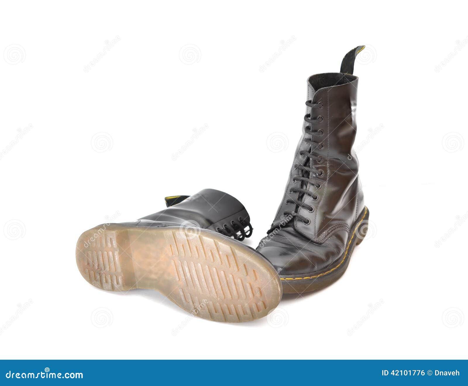 venta reino unido venta caliente más nuevo nuevo estilo y lujo Pares De Botas Negras Clásicas Del Zapato Con Cordones Foto ...