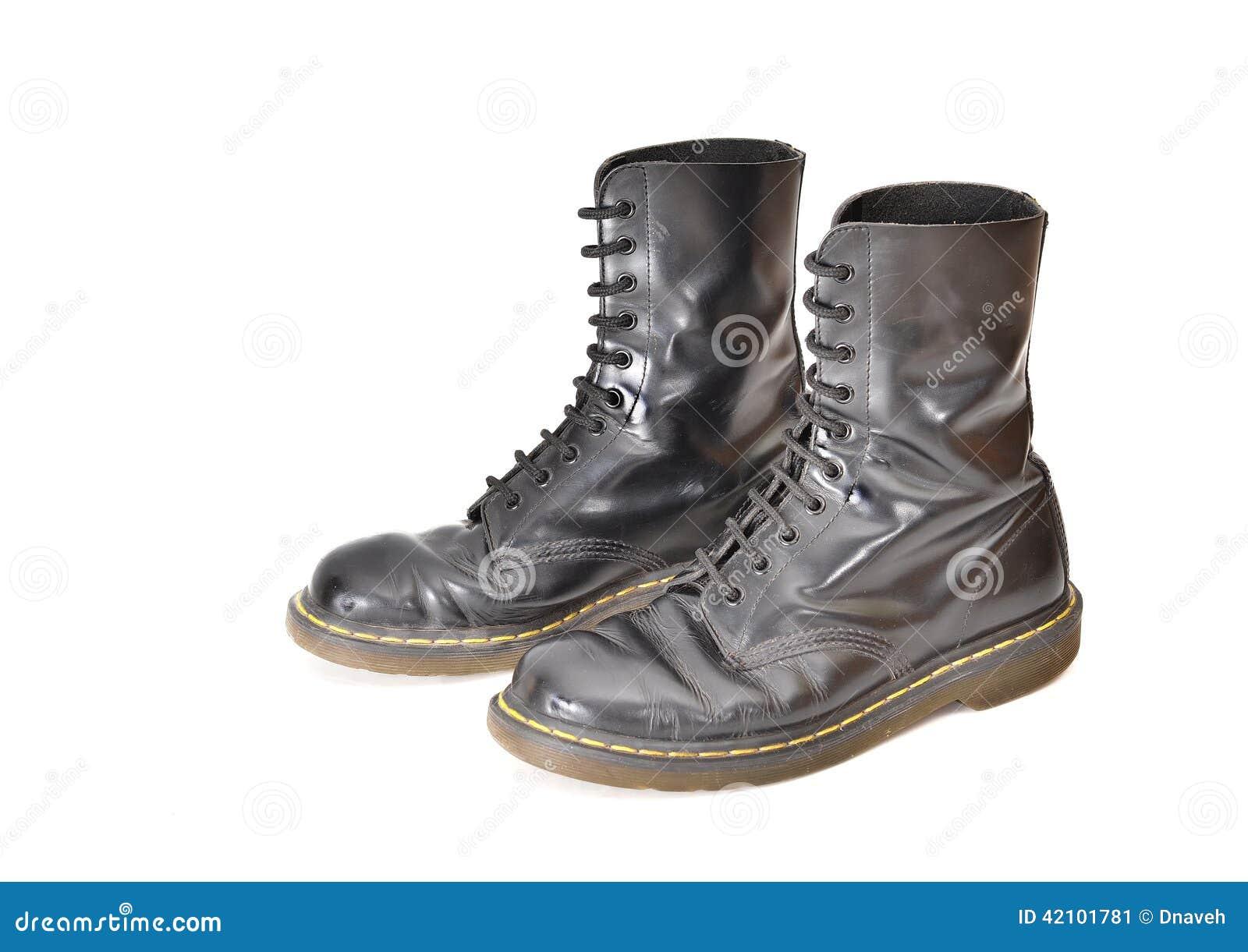 sitio web para descuento últimas tendencias de 2019 venta oficial Pares De Botas Negras Clásicas Del Zapato Con Cordones ...