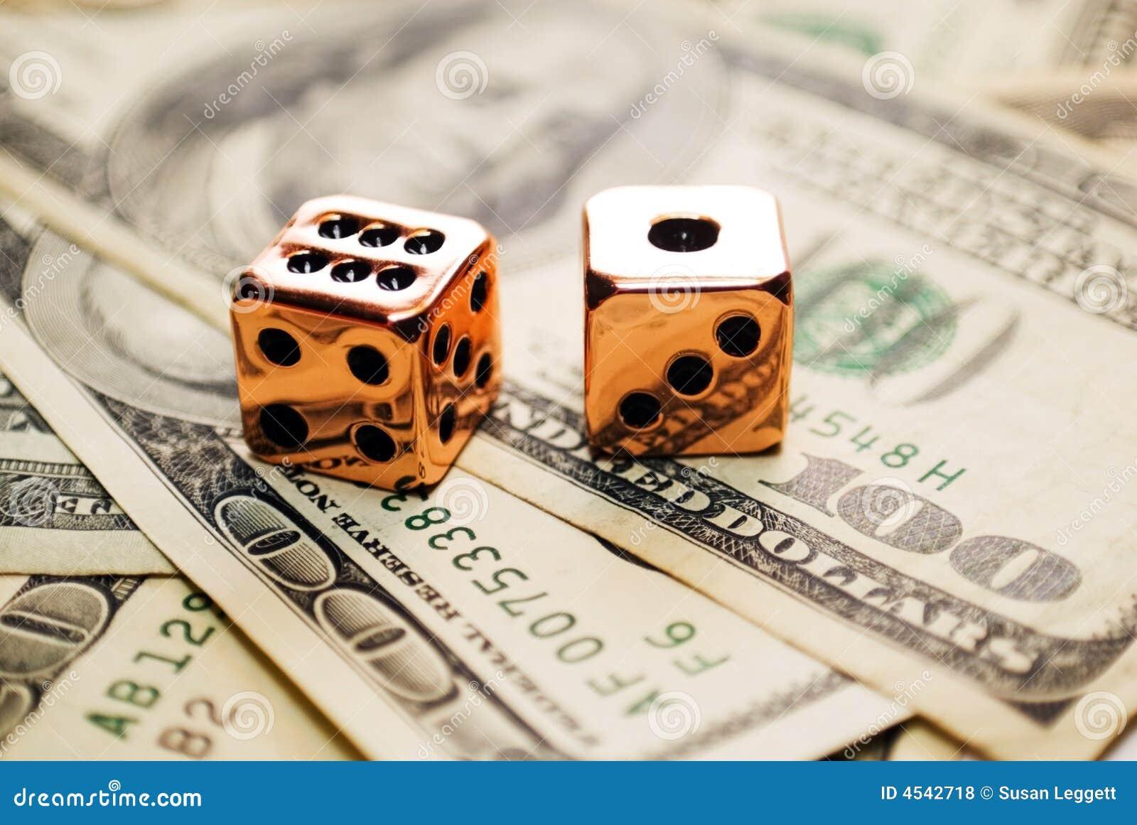 Pares de dados de cobre en el dinero