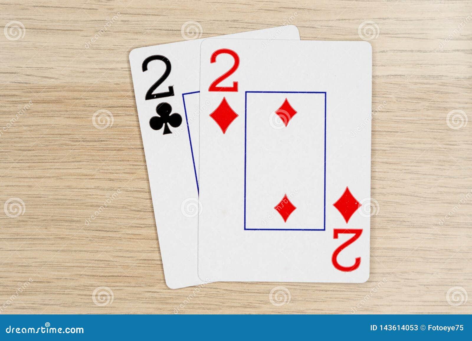 Pares de dos 2 - casino que juega tarjetas del póker