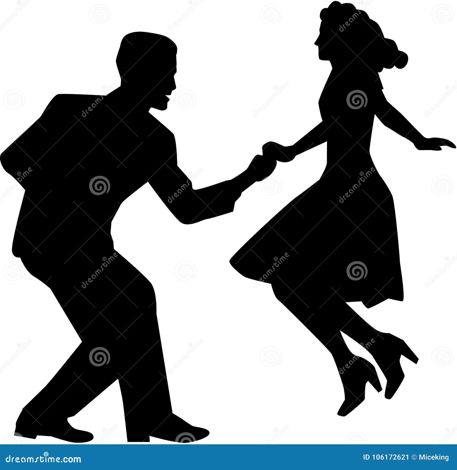Pares de la danza del oscilación