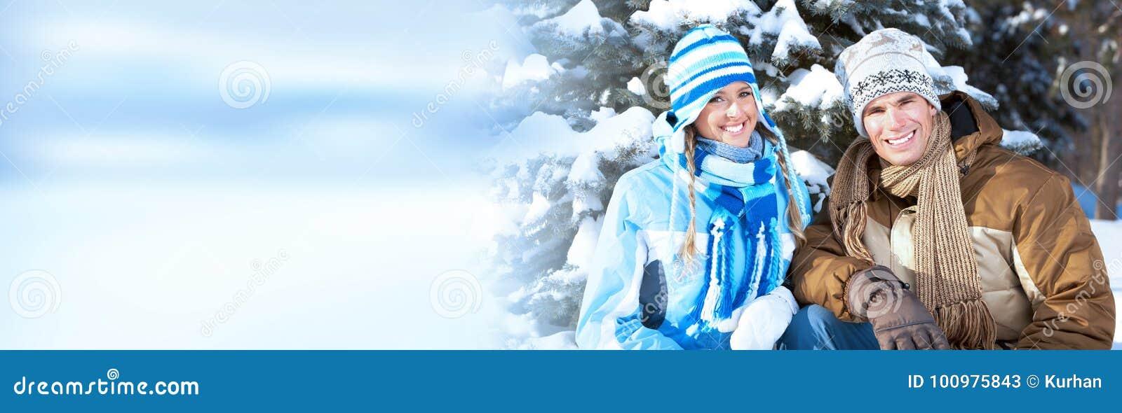 Pares de la Navidad del invierno
