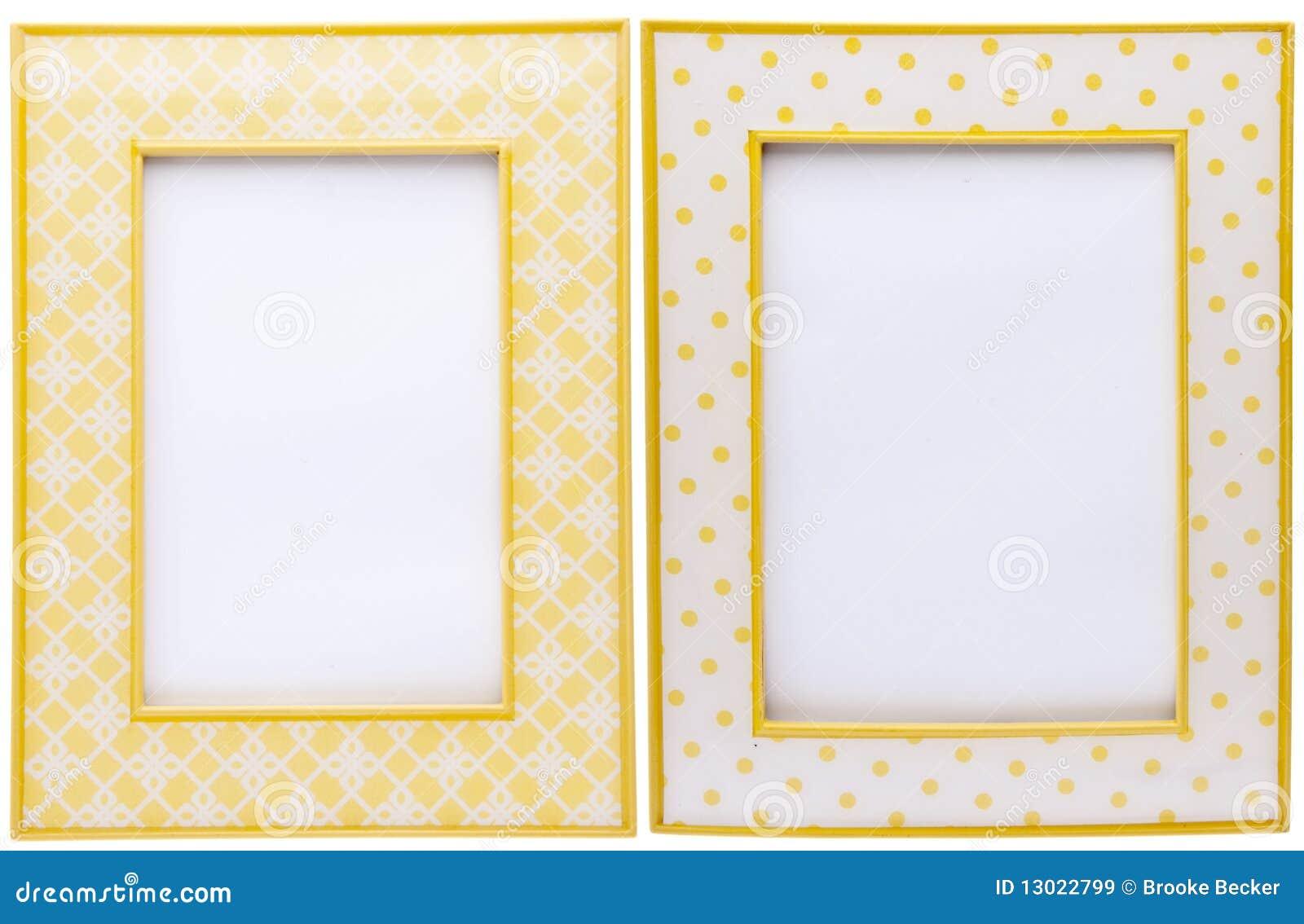 Pares de marcos amarillos imagen de archivo. Imagen de vacío - 13022799