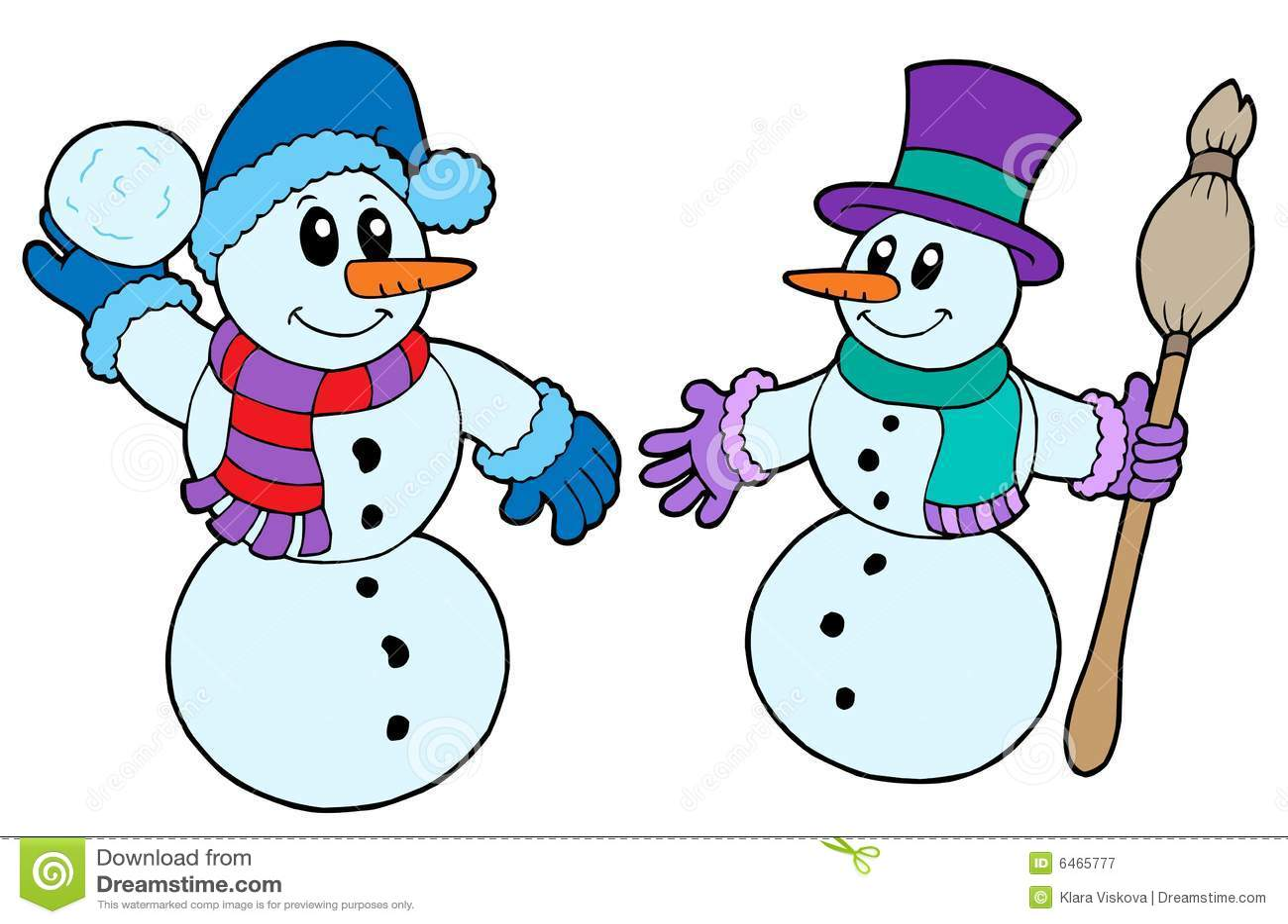 Pares de muñecos de nieve lindos