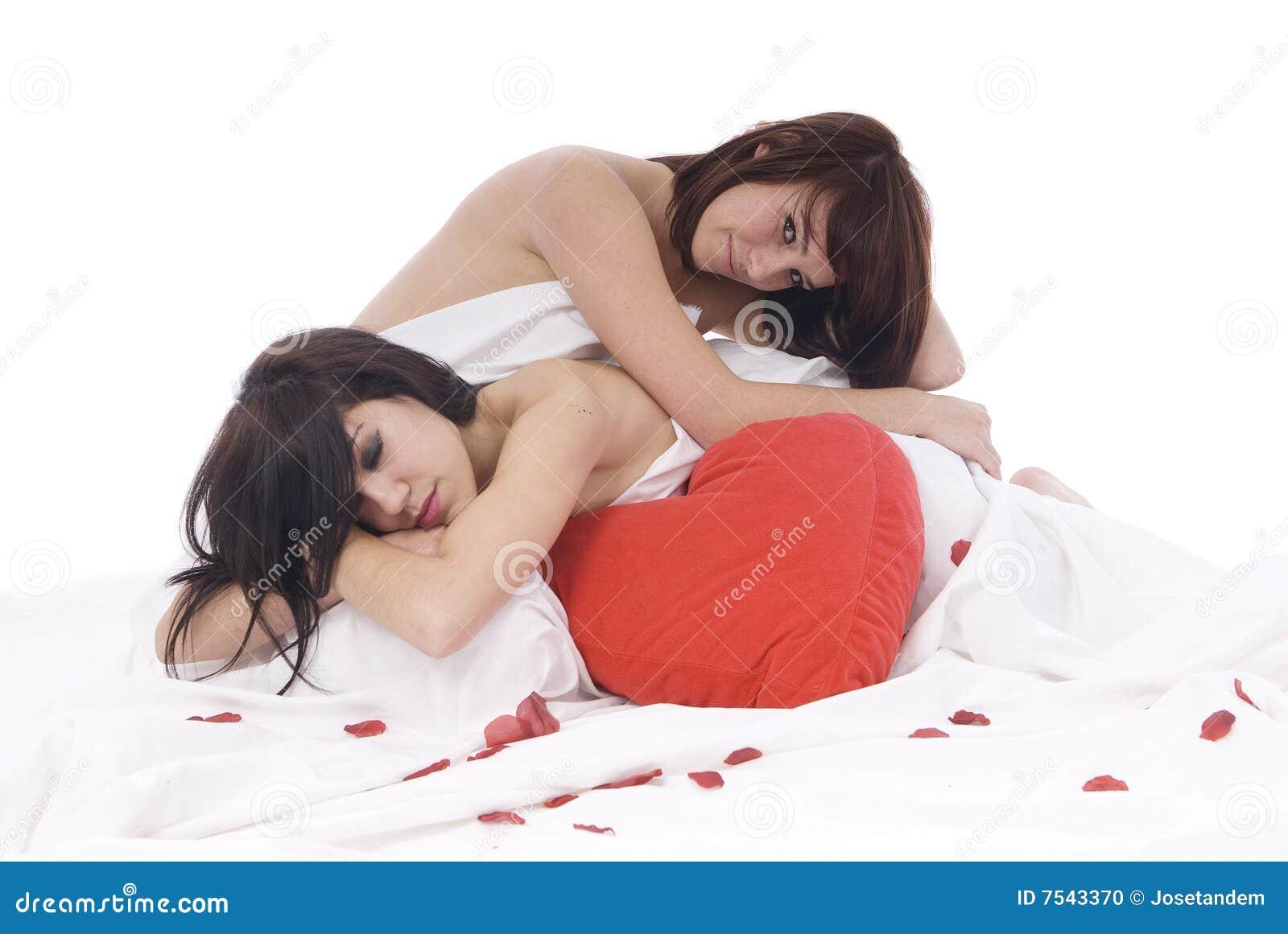 Pares De Mujeres Lesbianas En Amor Foto de archivo